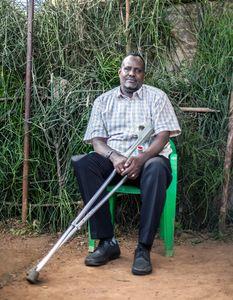 Ahmed Dahir.  An elder leader of the Somali community inside the Nakivale refugee settlement