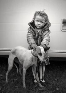 Baby and Dog, Ballinasloe Horse Fair