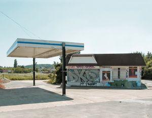 """Station #19, from """"Twentysix Abandoned Gasoline Stations"""" © Eric Tabuchi"""