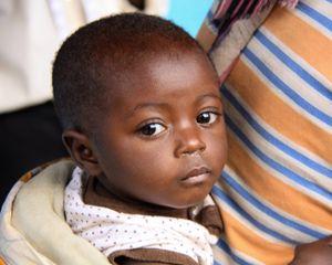 Child stares at the photographer - Musanze, Rwanda