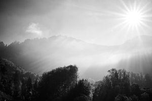Blinding midday sunlight