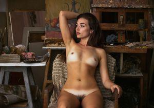 In artist's studio