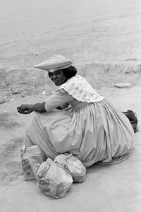 Herero woman and groceries