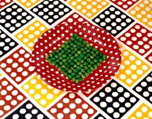 "Sandy Skoglund, Peas On A Plate , 1978; from ""Feast for the Eyes""(Aperture, 2017) © Sandy Skoglund"