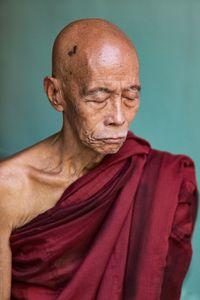 Elderly monk