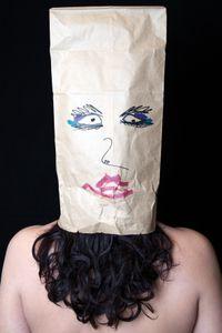 paper bag portrait