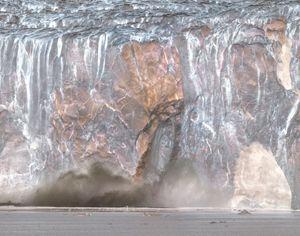 Melting glacier.