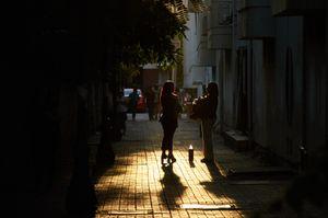 Sunset conversation