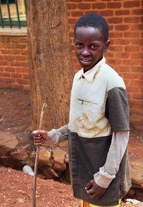 Young village boy of Rwanda