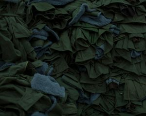 Clothes for the soldiers in a warehouse of voluntary help. Lviv, Ukraine, January 2015.
