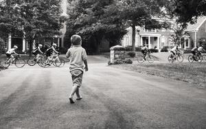 A Bike Troupe Rode Past