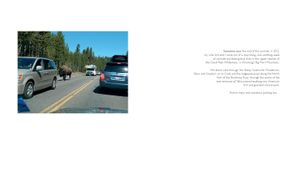 """Twentyone Yellowstone Parking Lots"" page spread/introduction © 2013, Lewis Koch"