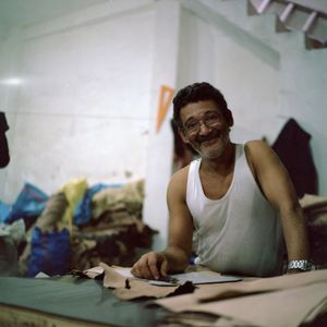 Leather maker, Fès, Morocco