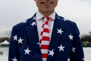 American Flag at Inauguration 1
