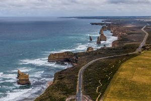 Great Ocean Road, Australia from helicopter