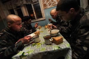 Tajik-Afghan border. Meagre slops