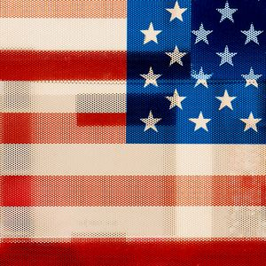 Throuh the American flag