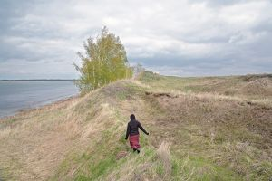 Woman at the Crooked Lake, Petrovka, Omsk Oblast, 2013