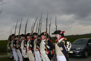 Waterloo 200 is coming. a new monument was placed at Waterloo. Re-enactors exercise