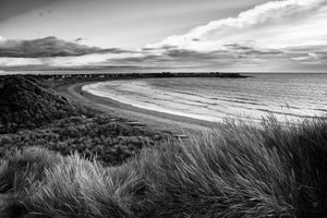 Beadnell from the dunes