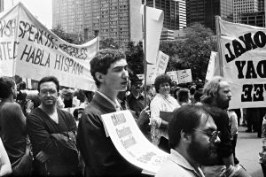 America out of El Salvador protest, Toronto, 1981