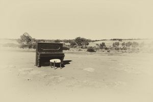 Abandoned Piano in Paddock