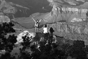 Outside of the fence. Grand Canyon, AZ.