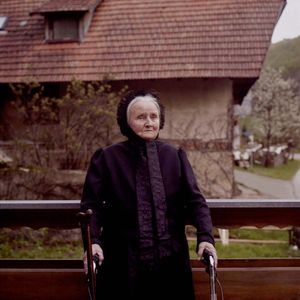 Maria Anna Griessbaum in the old-fashioned garb for old women, Black Forest, 2009. From the series: The last women in their traditional peasant garbs