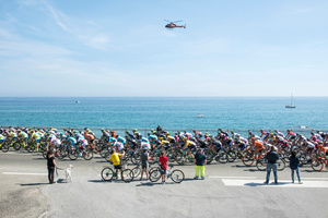 Stage: Liguria. Celle Ligure. Along the coast of the western Riviera, this stage has a mainly level route facing the Ligurian sea.