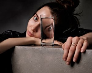 Playing with glass - Full of water #1