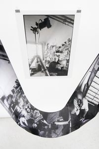 Photographing Robert Doisneau installation showing prints 1 & 2