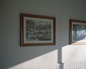 Painting of the Snowy River in a local motel.