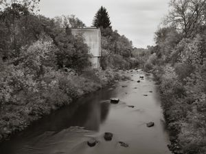 Engineered Riverscape with Van Sickler Mill, Post PCB Cleanup, Pittsfield, MA  -  © Shaun OBoyle