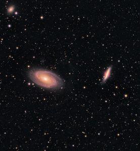 Bode's Galaxy (Messier 81) & The Cigar Galaxy (Messier 82)