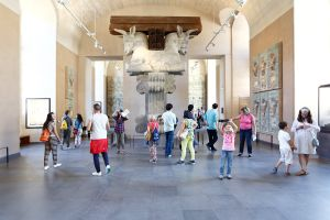 Tourists and Art Sites