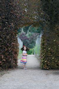 Maya in the garden.