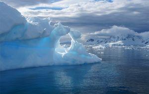 Ice Sculpture Window in Antarctica - © Adel Korkor