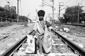 Ragpicker, New Delhi Railway Station.