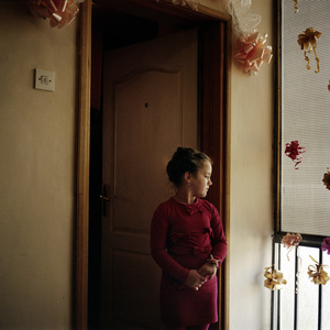 Mitrovica North, Kosovo. December 2014.  Andjela, 12 years old.