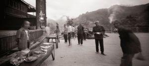 Morning Butcher and Villagers, Sanjiang. Guanxi Province, China