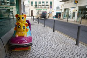 Children's Ride, Nazare, Portugal