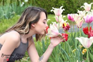 Smelling Tulips