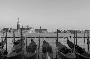 Landscape with gondolas
