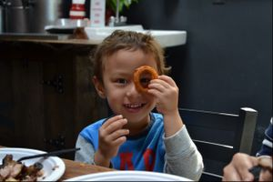 Boy With Onion Ring