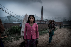 Portrait of a Woman. Brick Factory, Nepal,