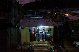 Angola town by night