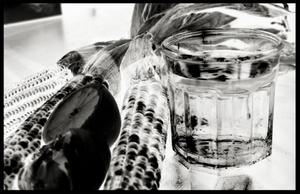 Glass of Water, Native Corn and Lemon