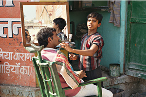 Boy Barber, Varanasi, India, 1990