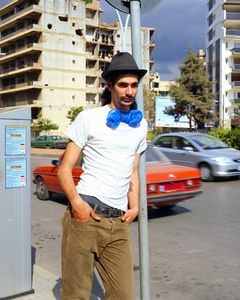 Blue Bag, Beirut 2010 #053 (from the Series Blue Bag 2007-2016)