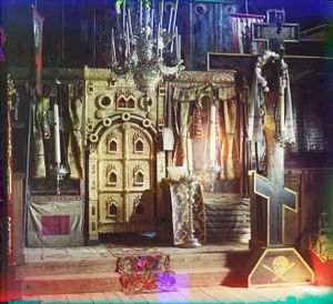"""Iconostasis in the Church of Saint John the Theologian in Rostov Velikii, Russia, 1911 © Sergei Mikhailovich Prokudin-Gorskii, from the book """"Nostalgia"""". Images courtesy US Library of Congress and Gestalten publishers, Berlin."""
